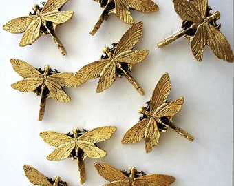 Large  Dragonfly  Push Pins, 9pc Set     FREE SHIPPING