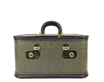 Vintage Innovation Tweed Train Case Vintage Suitcase Small 1940s Train Case Innovation Luggage Old Train Case Tweed Suitcase Train Case