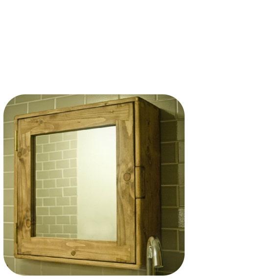 Bathroom Cabinet Wood Natural Eco Friendly Door Mirror