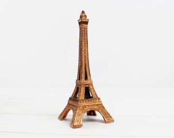 1940s Eiffel Tower centerpiece - Eiffel Tower Cake Topper, Copper Tone, Paris, Eiffel Tower Decor, French Souvenir, Paris Decor, E499