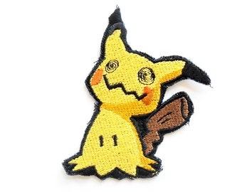 One Mimikyu Pokemon Sew On Machine Embroidered Patch