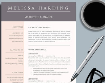 Resume Maker Software Excel Marketing Resume  Etsy Key Skills For Resume with Computer Literate Resume Word Creative Business Professional Resume Template For Ms Word  Color Design  Cv  Template Design  Group Fitness Instructor Resume Word