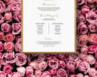 Wedding Program.