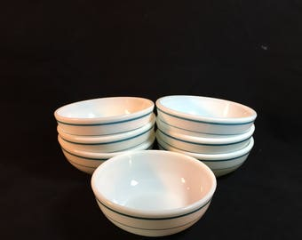 Vintage Pyrex Glass Cereal Bowls, Set of 7