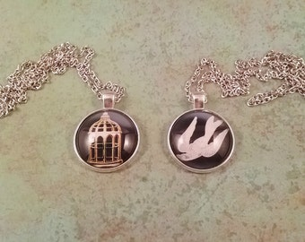 Bioshock Infinite Bird or Cage Necklace,