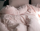 Blush Pink Colored Gauze Twin / Queen / King Size Bedding Set / Duvet Set