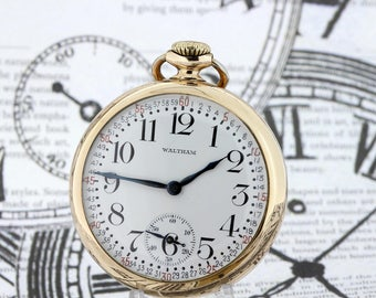 10K Yellow Gold filled Waltham Pocket watch