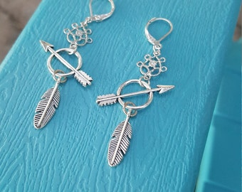 Charm Earrings - Feathers and Arrows