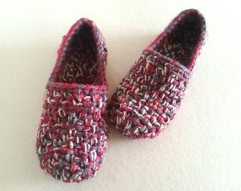 Crochet slippers, Womens slippers, House Flats, House slippers, Gift for women, Crochet Home Shoes, Non-Slip, Ballet Flats, Handmade Shoes,