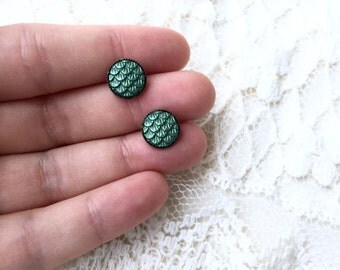 Mermaid Scales Earrings, Nautical Gifts, Beach Earrings, Birthday Gift Under 5, Gifts For Best Friends, Stud Earrings, Gifts For Coworkers