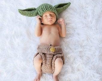 Yoda Newborn to 3 Months Star Wars Photography Prop