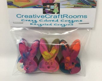 Easter Bunny Crayons, Recycled Bunny Crayon Set, Easter Crayon gifts Easter Basket Stuffer, Easter Crayons, Crayons for kids Birthday Party