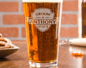 engraved beer glasses, groomsmen glass, best man gift ideas, usher gifts, pint glasses, best man proposal, beer glass personalized