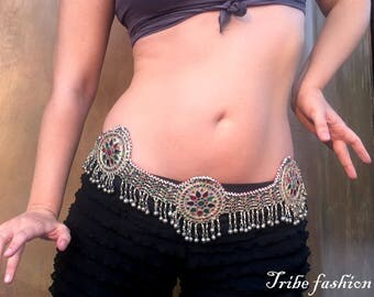 Tribal Fusion Belt, Vintage Belt, Bellydance Indian Belt, Amazing Rare Antique Belt