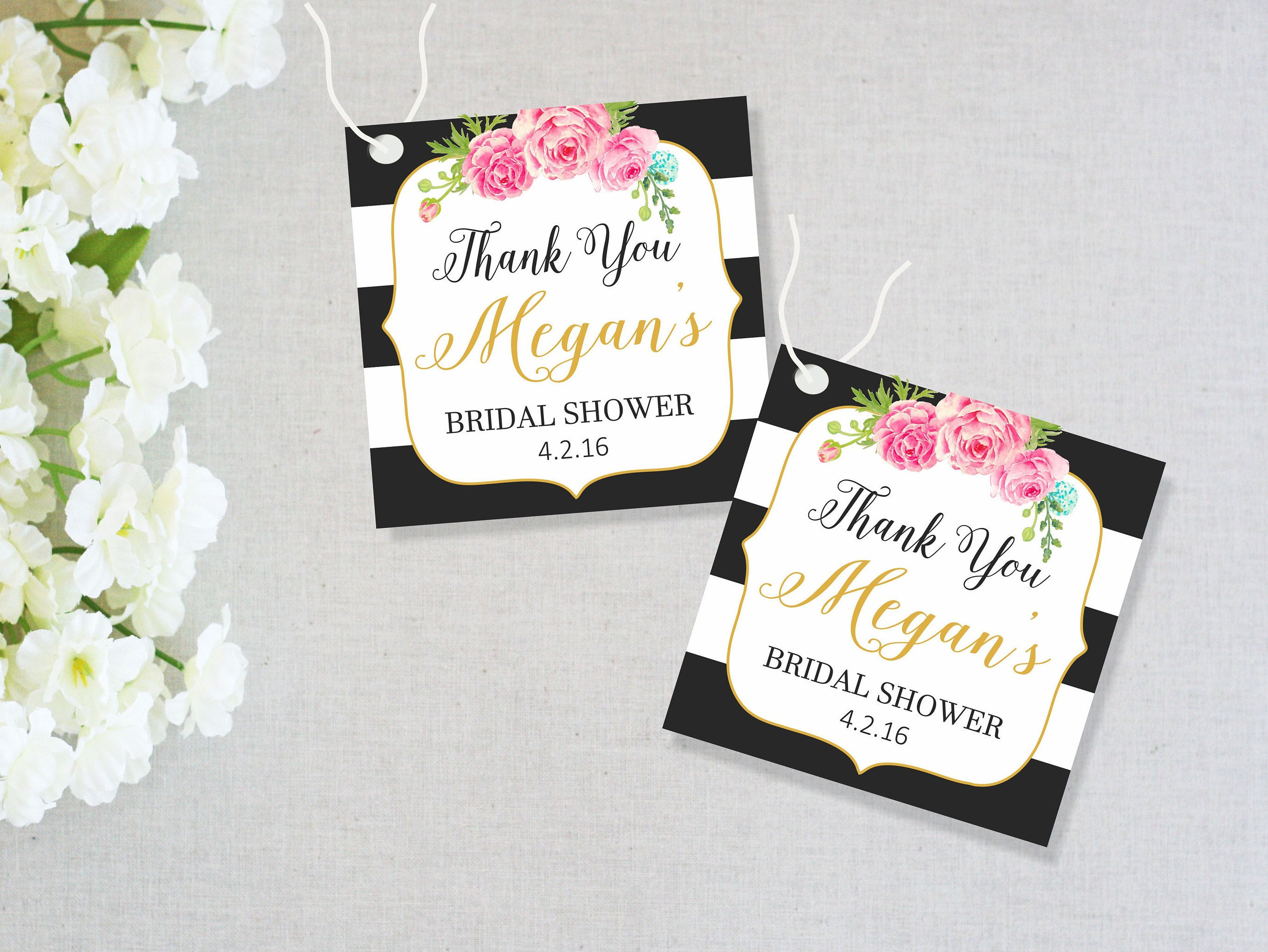 Free Printable Wedding Gift Tags: Bridal Shower Favor Tags Printable Bridal Shower Tags Thank
