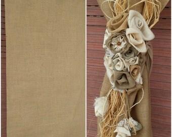 Rustic Burlap Curtain tab top curtains, tab top drapes, tab top curtains drapes, tab top curtain panels Burlap Roses Curtain Tie Back