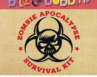 Zombie Apocalypse Survival Kit - Digital Embroidery Design