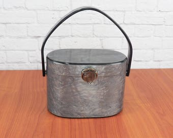 WILARDY Pearlized Gray Lucite Purse