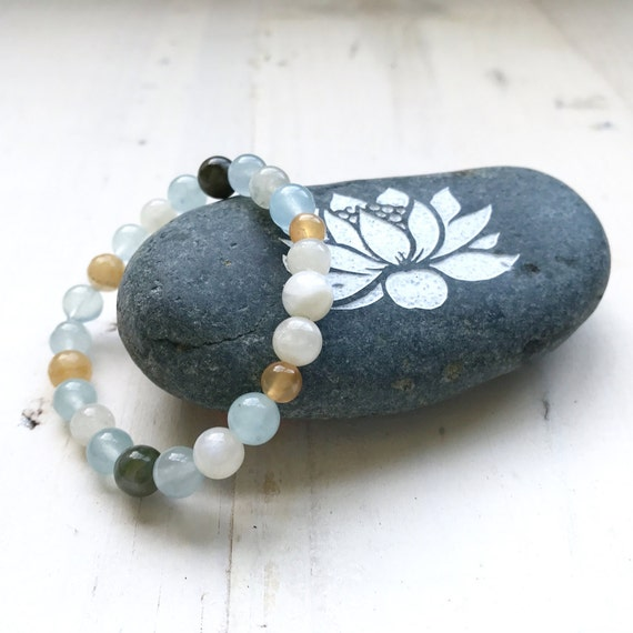 Natural Healing Bracelet For Fertility, Bracelet That Matching Fertility Mala, Moonstone Bracelet, Gemstone Bracelet For Women's Fertility