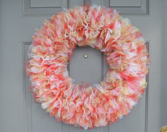 Holiday Tulle Wreath