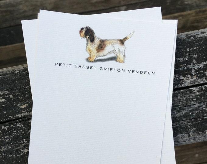 Petit Basset Griffon Vendeen Dog Note Card Set
