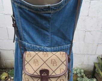 Dooney & Bourke Tote Bag Jacquard and Leather Crossbody Handbag Purse Bag