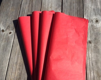 Red Tissue Paper / Bulk Tissue Paper Red 24 sheets / Premium Red Tissue Paper / Red Wedding/Christmas wrapping paper