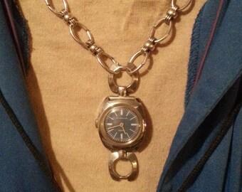 OOAK Blue WATCH CHOKER necklace.