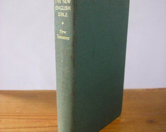 New English Bible New Testament Hard Back Religious Christian Gilt Lettering 1961 from England 169