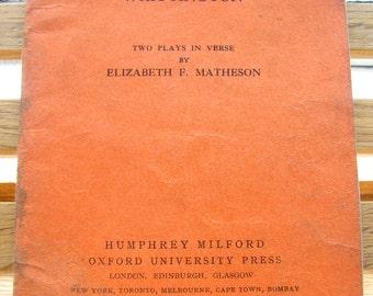 Antieke 1928 school tekst boek lezer de schoenmaker en de Elfen en Dick Whittington 2 speelt Elizabeth F Matheson Ierse familie 249 (X)