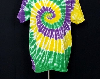 "Tie Dye Shirt ""Mardi Gras"" (Hand Dyed) 