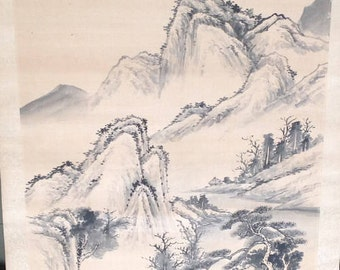 Chinese painting on a rol that can be hanged on the wall