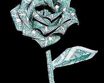 Money roses - money flower - origami money rose - dollar rose - US dollar bills - rose Gift