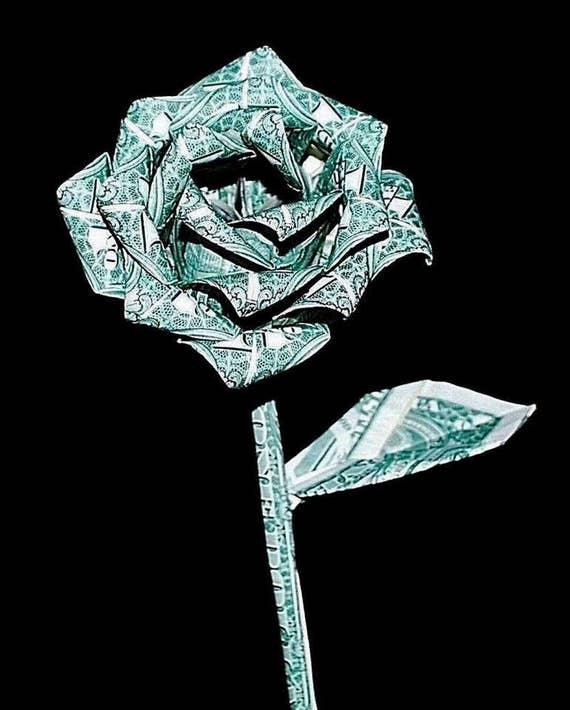 Money roses money flower origami money rose dollar rose - photo#27