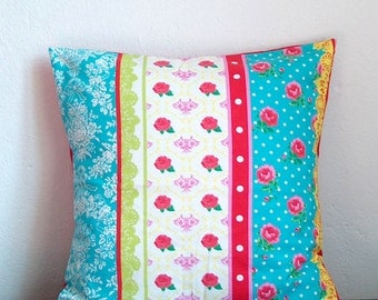 Cushion cover roses Shabby chic