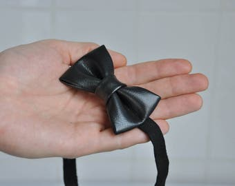 Kids Bow Tie. Leather Bow Tie.