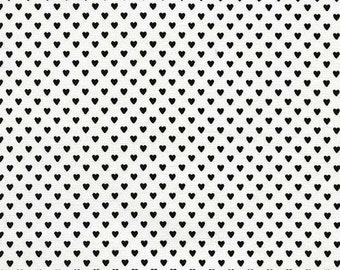Tiny Black Hearts Fabric, Timeless Treasures Fabric Fun C1154 Black, Valentines Day Fabric,  Black & White Fabric, Cotton Heart Quilt Fabric