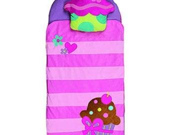 stephen joseph cupcake nap mat, little girl nap mat, preschool nap mat