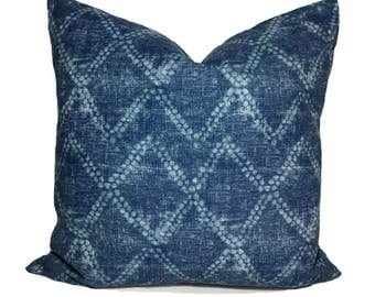 Indigo pillow cover, Throw pillow, Decorative pillow, Bohemian pillow, Boho pillow, Sham, 12x20, 16x16, 18x18, 20x20, 22x22, 24x24, 26x26