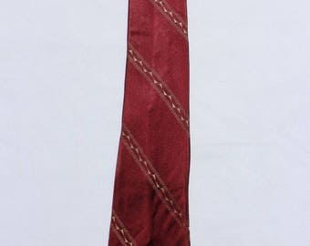 Burgundy 1950s Vintage Men's Tie