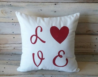 Love Decorative Pillow Cover, Valentines Day Pillow, Throw Pillow