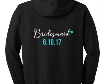 Bridesmaid hoodies, Bridesmaid sweatshirts, Bachelorette Party sweatshirts, Bachelorette Hoodies, Bridal Party Hoodies, Monogrammed Hoodies
