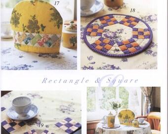 Flower Motif Quilt, Yoko Okamoto, Japanese Patchwork Pattern Book, Floral Design, Easy Quilting Tutorial, Hand Patchwork Quilt Pattern