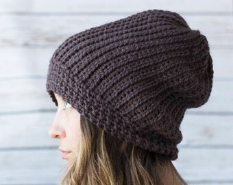 Emily Hat Crochet Rib Hat Pattern that Looks Like Knitting