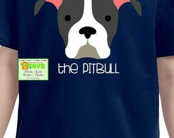 Pitbull dog, pitbull puppy shirts, dog pictured shirts, personalized shirts