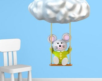 Wall decals mouse A507 - Stickers Souris A507