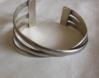 Sterling Silver Nilsson Cuff Bracelet
