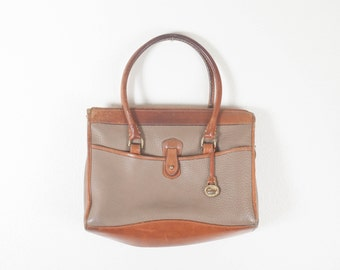 Dooney and Burke Handbag, 80s Purse, Brown Leather Handbag, Preppy Handbag, 80s Handbag, 90s Purse, 90s Handbag, Pebble Grain Leather Purse