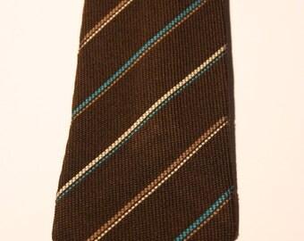 brown tie /silk/ necktie/ retrò/ 60s