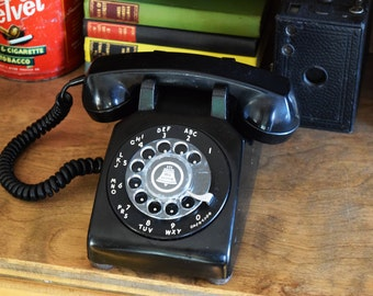 Black Rotary Telephone -  Made in Canada - 100% Functional - BELL NORTHERN TELECOM - Working Vintage Phone - 1960s